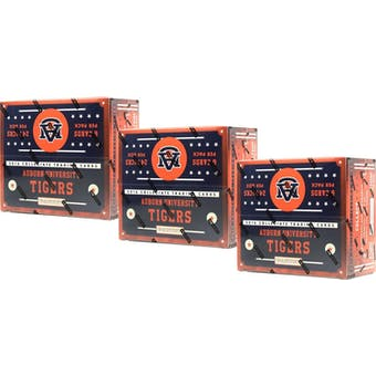 2016 Panini Auburn Tigers Multi-Sport 24-Pack Box (Lot of 3)