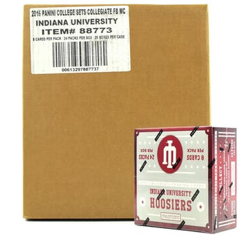 2016 Panini Indiana Hoosiers Multi-Sport 24-Pack 20-Box Case