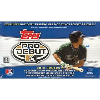 2010 Topps Pro Debut Series 2 Baseball Hobby Box