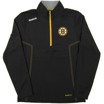 Boston Bruins Reebok Black Baselayer Center Ice Performance 1/4 Zip Pullover (Adult XL)