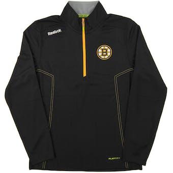 Boston Bruins Reebok Black Baselayer Center Ice Performance 1/4 Zip Pullover (Adult XL)
