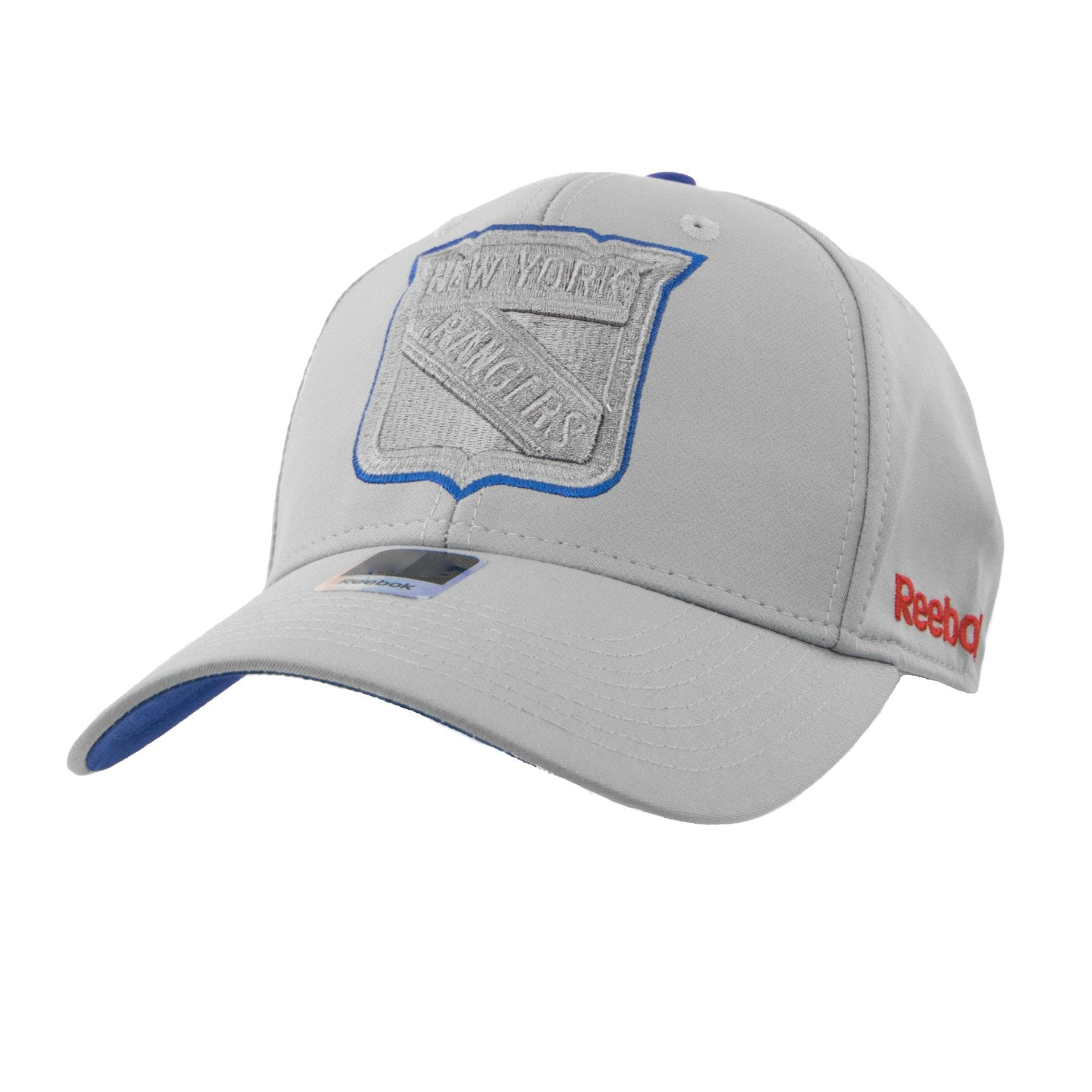 896cd58ad50 New York Rangers Reebok Gray Face Off Structured Flex Fit Hat