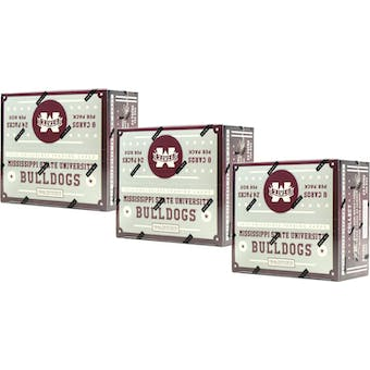 2016 Panini Mississippi State Bullsdogs Multi-Sport 24-Pack Box (Lot of 3)