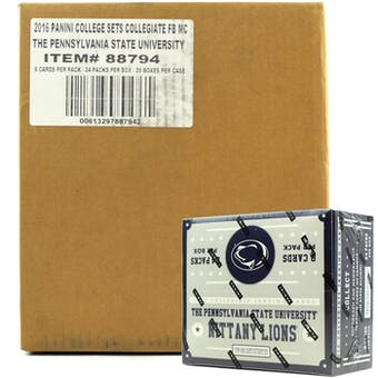 2016 Panini Penn State Nittany Lions Multi-Sport 24-Pack 20-Box Case