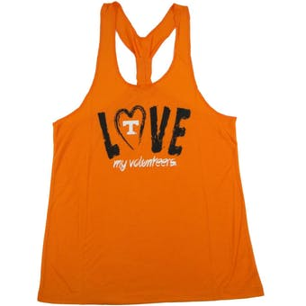 Tennessee Volunteers Colosseum Womens Orange Sequel Knot Dual Blend Tank Top