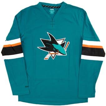 San Jose Sharks Reebok Teal Faceoff Jersey Long Sleeve Tee Shirt (Adult X-Large)