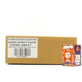 2016 Panini Clemson Tigers Multi-Sport Blaster 20-Box Case