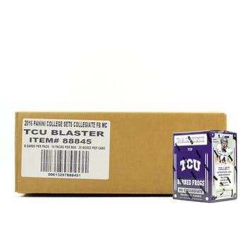 2016 Panini TCU Horned Frogs Multi-Sport Blaster 20-Box Case
