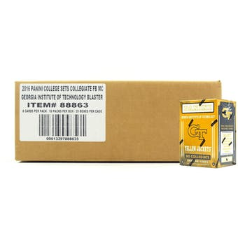 2016 Panini Georgia Tech Yellow Jackets Multi-Sport Blaster 20-Box Case