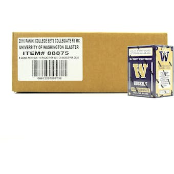 2016 Panini Washington Huskies Multi-Sport Blaster 20-Box Case