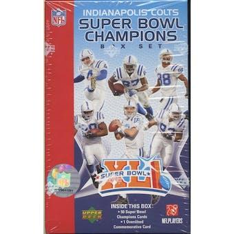 2007 Upper Deck Football Super Bowl XLI Champions Set (Box) (Colts)