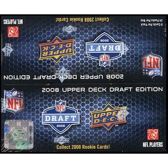 2008 Upper Deck Draft Edition Football 24-Pack Box