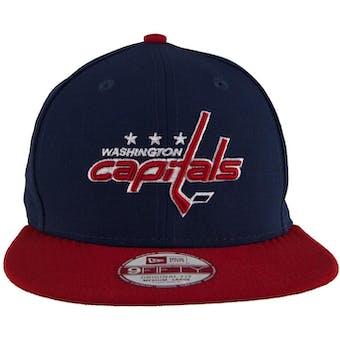 Washington Capitals New Era 9Fifty Basic Navy Flat Brim Snapback Hat