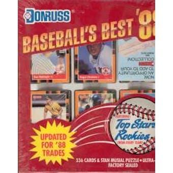 1988 Donruss Baseball's Best Baseball Factory Set