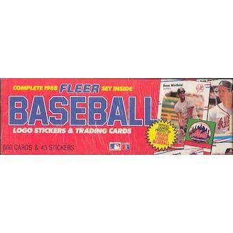 1988 Fleer Baseball Factory Set (Colorful box)