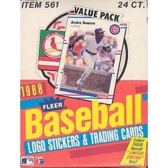 1988 Fleer Baseball Cello Box