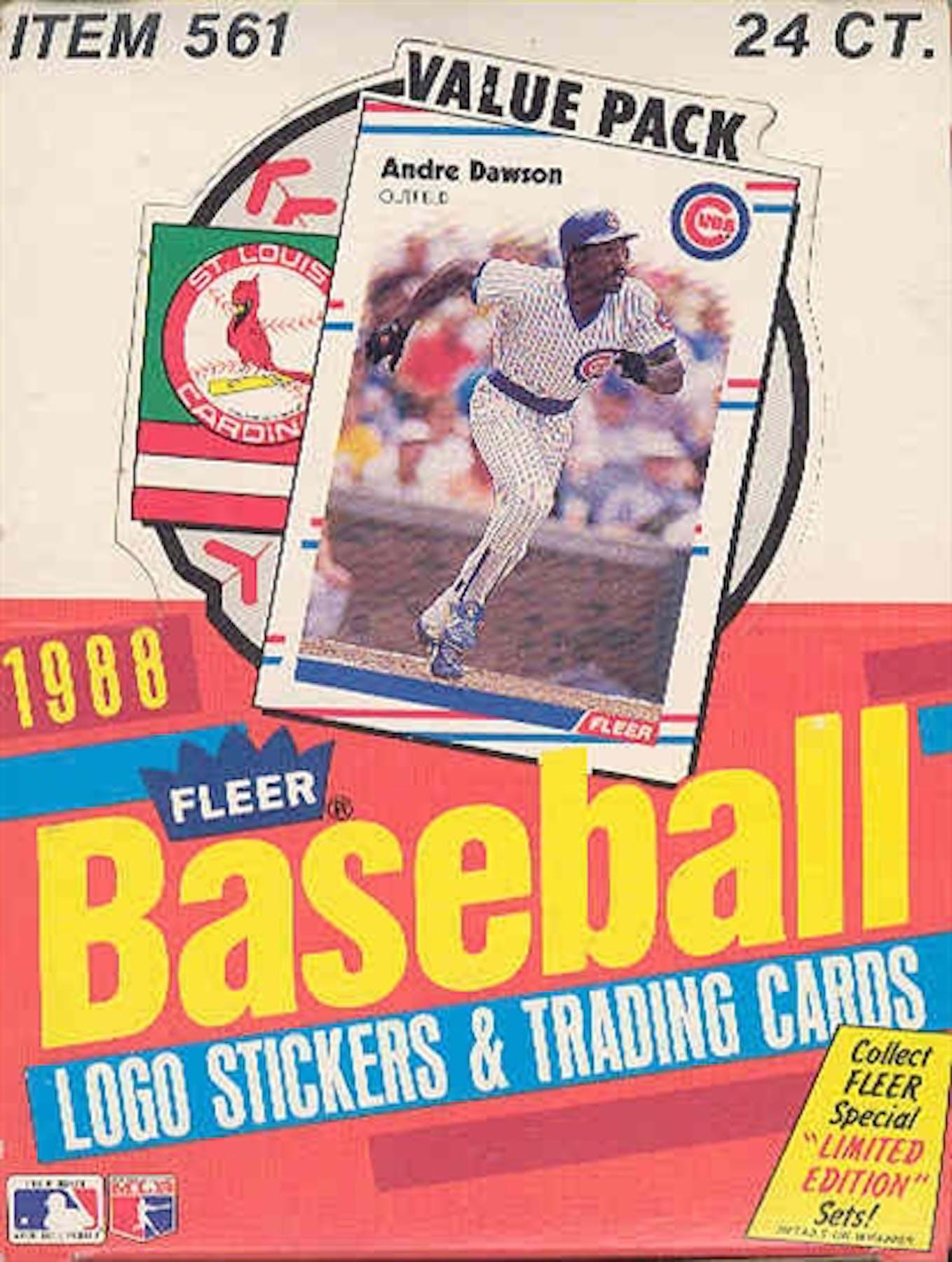 1988 Fleer Baseball Cello Box Da Card World