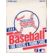 1988 Fleer Baseball Rack Box (Reed Buy)