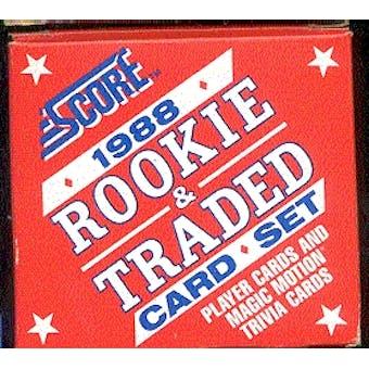1988 Score Traded & Rookies Baseball Factory Set