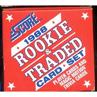 1988 Score Traded & Rookies Baseball Factory Set