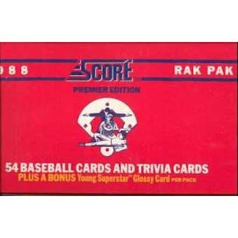 1988 Score Baseball Rack Box