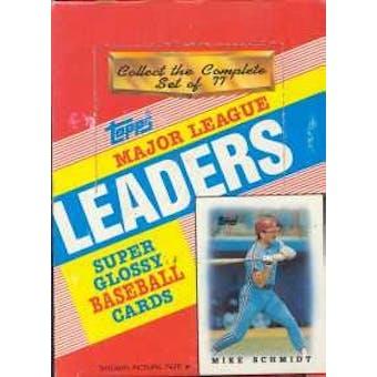 1988 Topps League Leaders (minis) Baseball Wax Box
