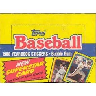 1988 Topps Stickers Baseball Wax Box