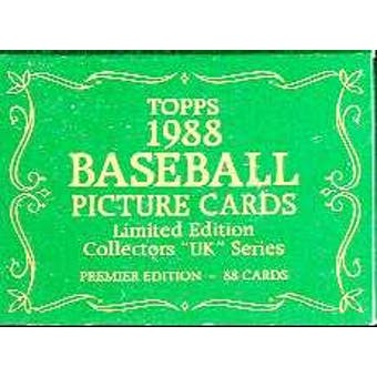 1988 Topps UK Tiffany Baseball Factory Set