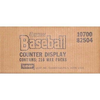 1988 Donruss Baseball Counter Display Box (216 wax packs)
