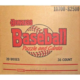 1988 Donruss Baseball Wax 20-Box Case
