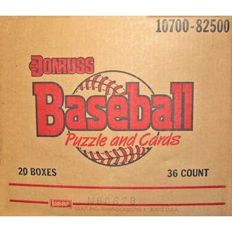 1988 Donruss Baseball Wax 20-Box Case