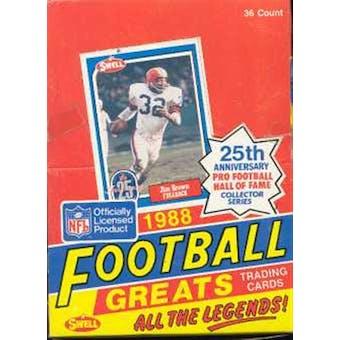 1988 Swell Greats Football Wax Box