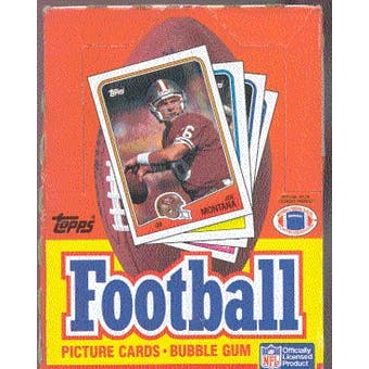 1988 Topps Football Wax Box