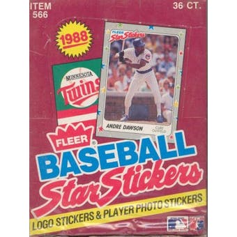 1988 Fleer Star Stickers Baseball Wax Box