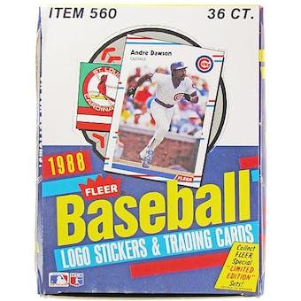 1988 Fleer Baseball Wax Box