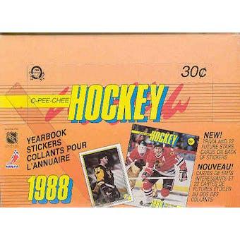 1988/89 O-Pee-Chee Sticker Hockey Box