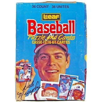 1988 Leaf Baseball Wax Box