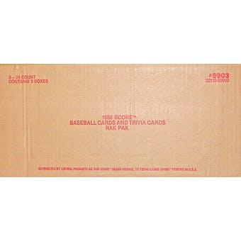 1988 Score Baseball Rack 3-Box Case
