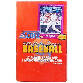 1988 Score Baseball Wax Box