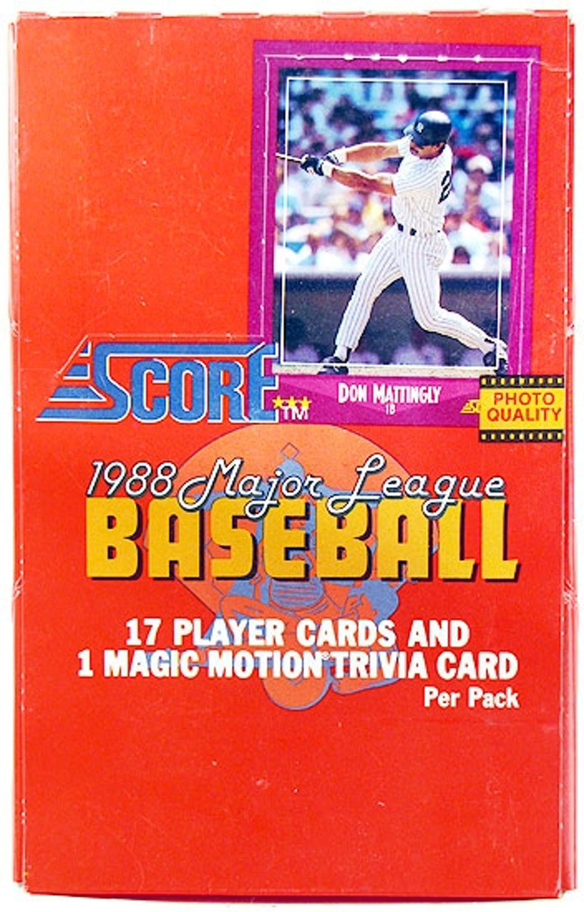 1988 Score Baseball Wax Box Da Card World