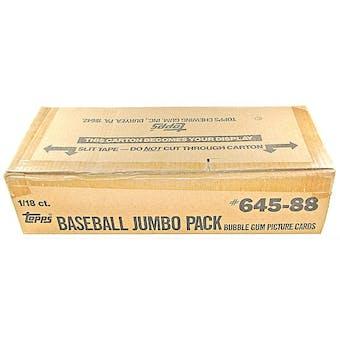 1988 Topps Baseball Jumbo Case Box (18 Giant Packs per case, 1800 cards)