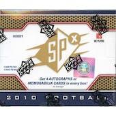 2010 Upper Deck SPx Football Hobby Box