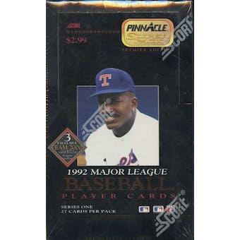 1992 Pinnacle Series 1 Baseball Jumbo Box