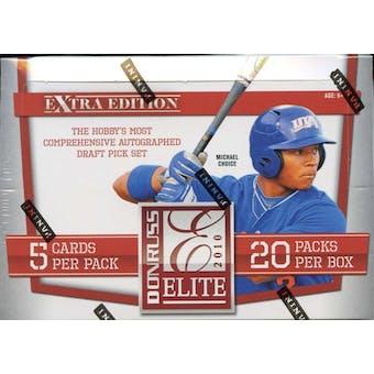 2010 Donruss Elite Extra Edition Baseball Hobby Box (Reed Buy)