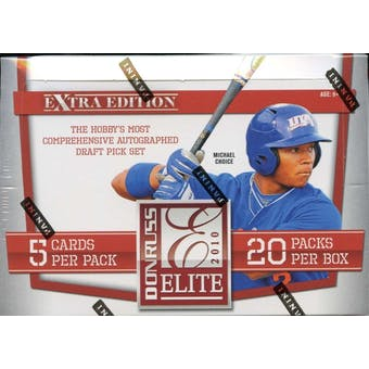 2010 Donruss Elite Extra Edition Baseball Hobby Box
