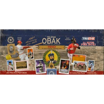 2010 TriStar Obak A History of the Game Baseball Hobby Box