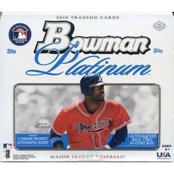 2010 Bowman Platinum Baseball Hobby Box