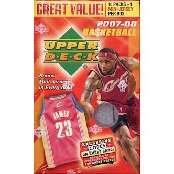 2007/08 Upper Deck Basketball 10-Pack Box