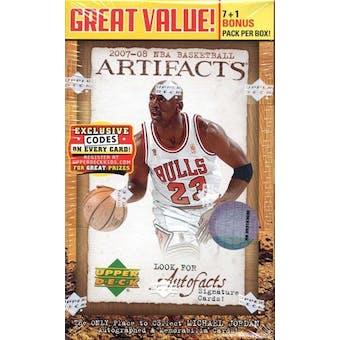 2007/08 Upper Deck Artifacts Basketball 8-Pack Box