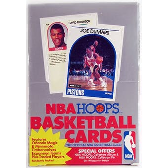 1989/90 Hoops Series 2 Basketball Wax Box